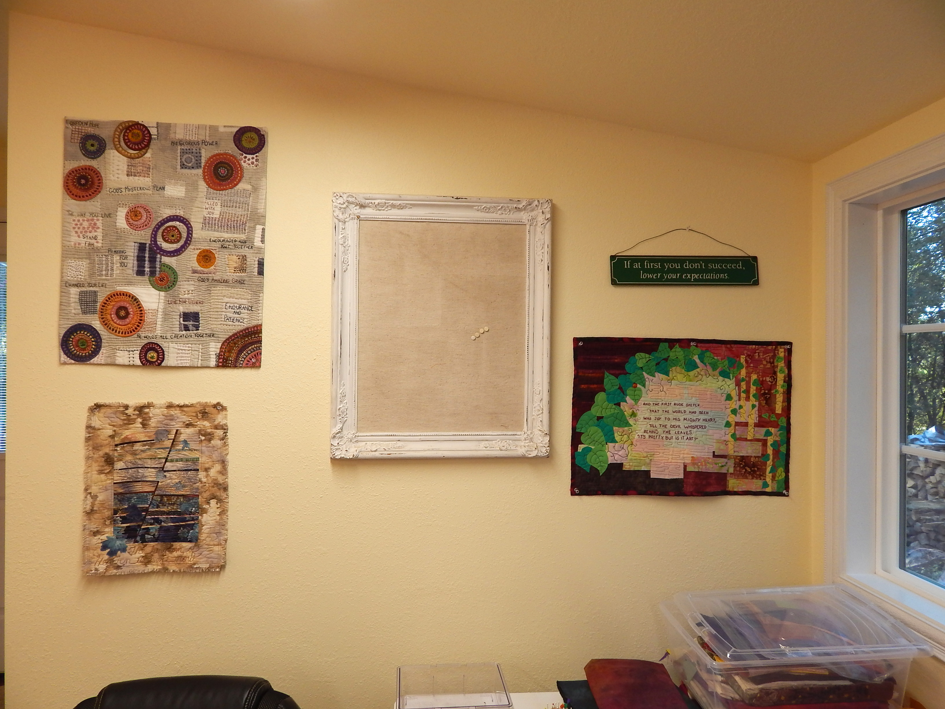 The Studio, Decorated, and as Clean as Its Gonna Get | debby quilts
